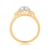 EternalDia 0.25 Cttw Diamond Twisted Style Promise Split Shank Ring In 10k Yellow Gold - EternalDia