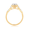 EternalDia 0.26 Cttw Diamond Twisted Style Promise Engagement Ring In 10k Yellow Gold - EternalDia