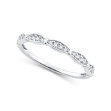 EternalDia 0.12 Cttw Diamond Eternity Stackable Band Ring in 10k White Gold - EternalDia