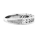EternalDia 7/8 Carat T.W. Diamond 14kt White gold Anniversary Band Ring - EternalDia