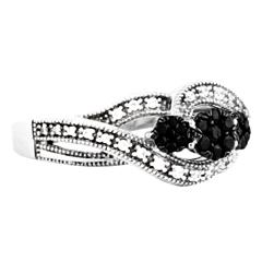 EternalDia 1/3 Carat T.W. Diamond Sterling Silver three stone fashion ring - EternalDia