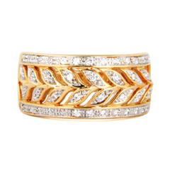 EternalDia 1/4 Carat T.W. Diamond 10kt Yellow Gold Fashion Ring - EternalDia