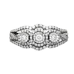 EternalDia 1/2 Carat T.W. Diamond 10kt White Gold Fashion Ring - EternalDia