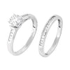 EternalDia 3/8 Carat T.W. Diamond 10kt White Gold Bridal set - EternalDia
