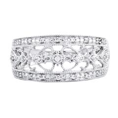 EternalDia 1/12 Carat T.W. Diamond Sterling Silver Fashion Anniversary Ring - EternalDia