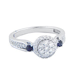EternalDia 3/8 Carat T.W. Diamond 10kt White gold Three stone ring - EternalDia