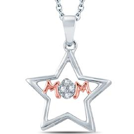 "EternalDia Diamond ""MoM"" Mothers Pendant Necklace - EternalDia"