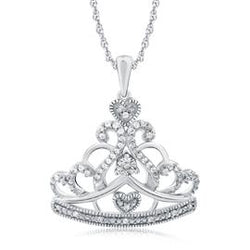 EternalDia Princess Crown Fashion Pendant Necklace - EternalDia