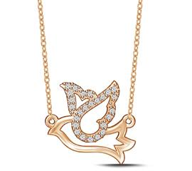 EternalDia Diamond Dove Pendant Necklace - EternalDia