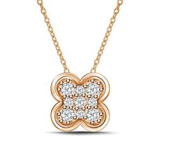 EternalDia Mini Clover Flower Shape Pendant Necklace - EternalDia