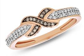 EternalDia Champagne Diamond Infinity Fashion Ring - EternalDia