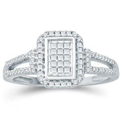 EternalDia Princess Cut Diamond Square Fashion Ring - EternalDia