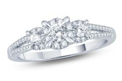 EternalDia Diamond Three Stone Fashion Ring - EternalDia