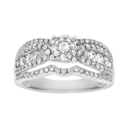 EternalDia 0.88 CT. T.W. Diamond Engagement Ring - EternalDia