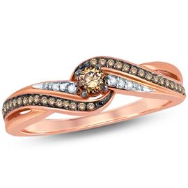 EternalDia Champagne Diamond Promise Ring - EternalDia