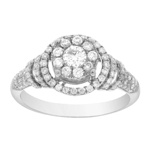 EternalDia 3/4 CT. T.W. Diamond Composite Bridal Ring - EternalDia