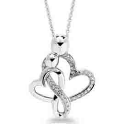 EternalDia Round Diamond Mothers Pendant Necklace - EternalDia