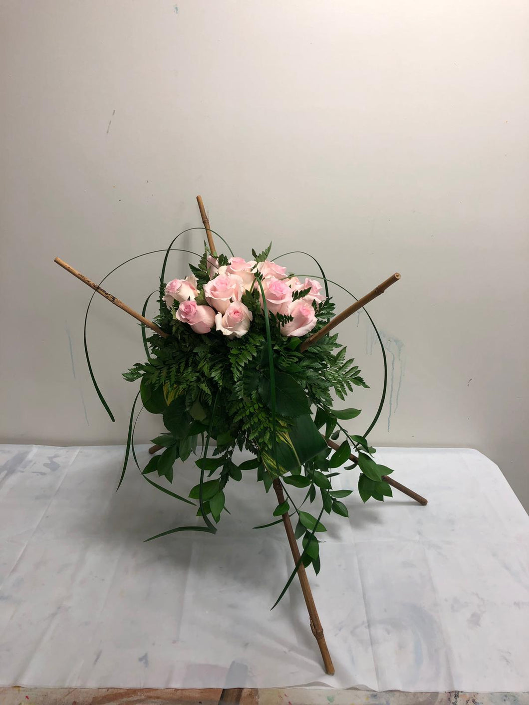 Roses and Bamboo: Light Pink