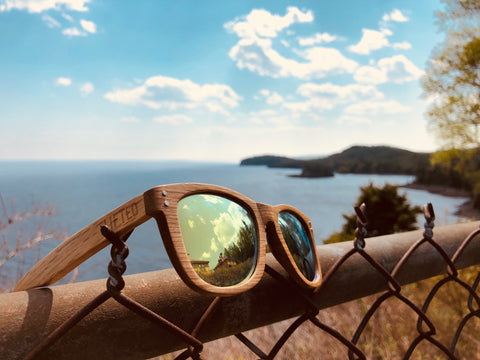 Lake Superior View with Lifted Optics Sunglasses