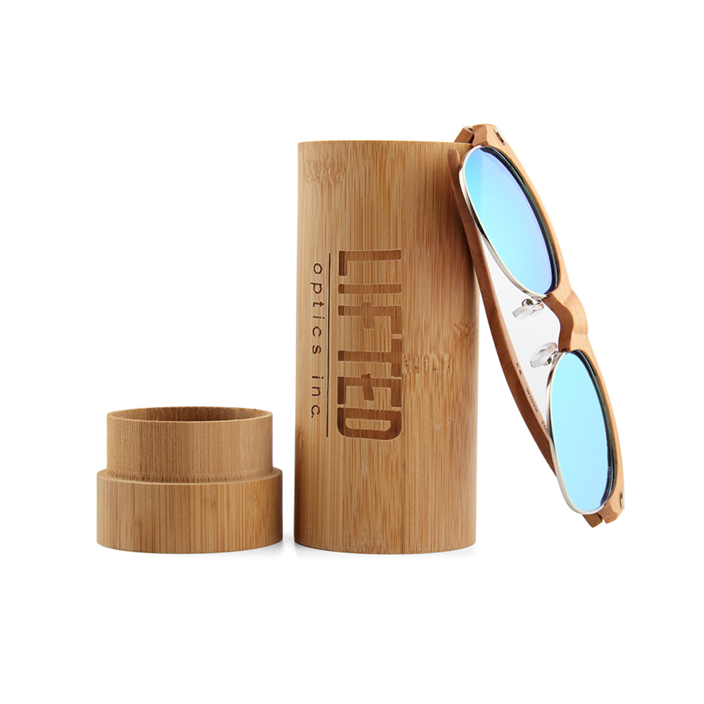 Bamboo sunglasses case - Lifted Optics