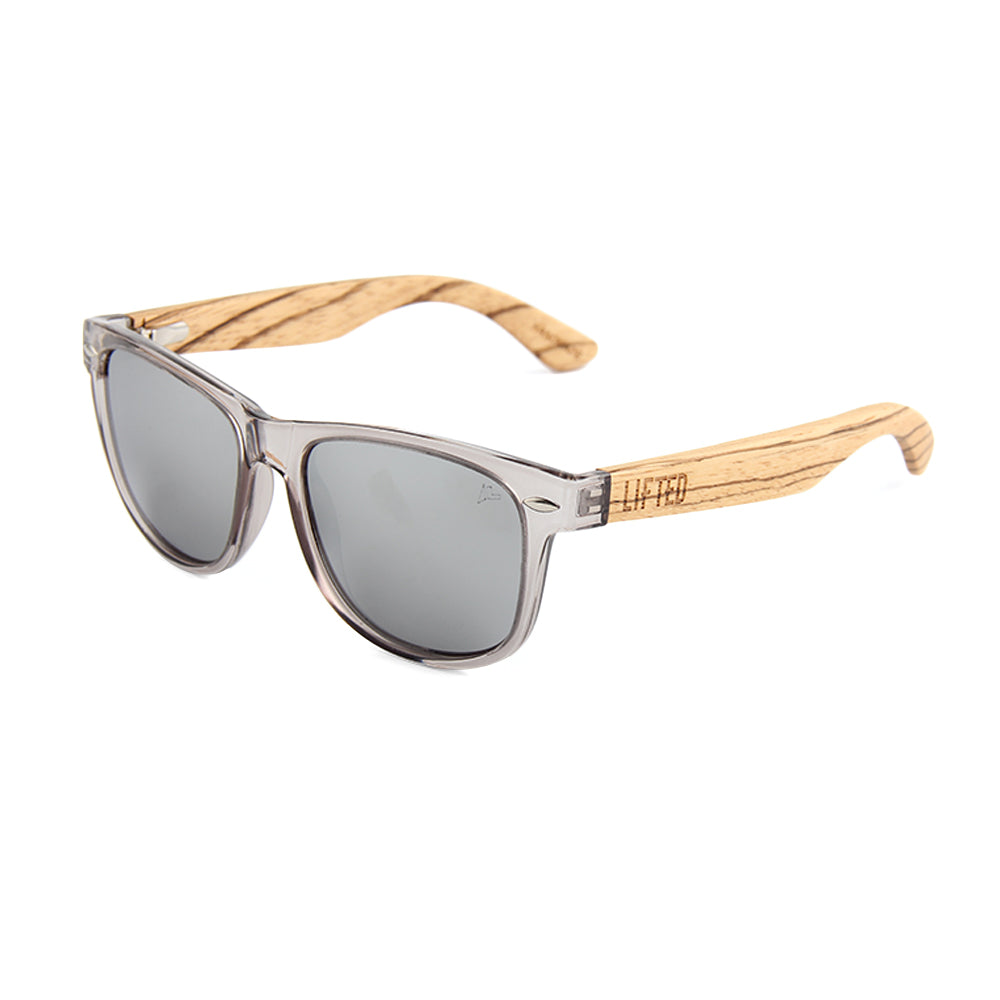 497d2aec78f Lifted Optics Isle wood wayfarer sunglasses with spring hinges and ...