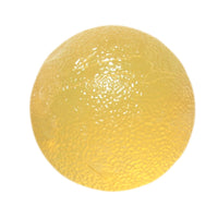 CanDo® Gel Squeeze Ball - Standard Circular - Yellow - X-Light: