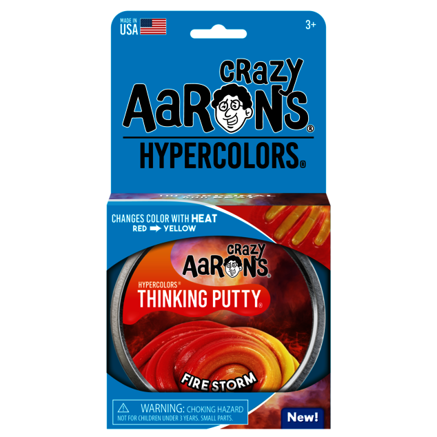 Crazy Aaron's Thinking Putty - Firestorm Hypercolor