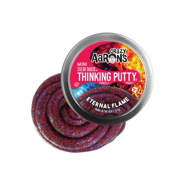 Crazy Aaron's Thinking Putty Mini Tin - Eternal Flame Color Shock