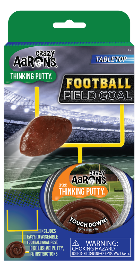 Crazy Aaron's Desktop Football Field Goal - Sports Putty