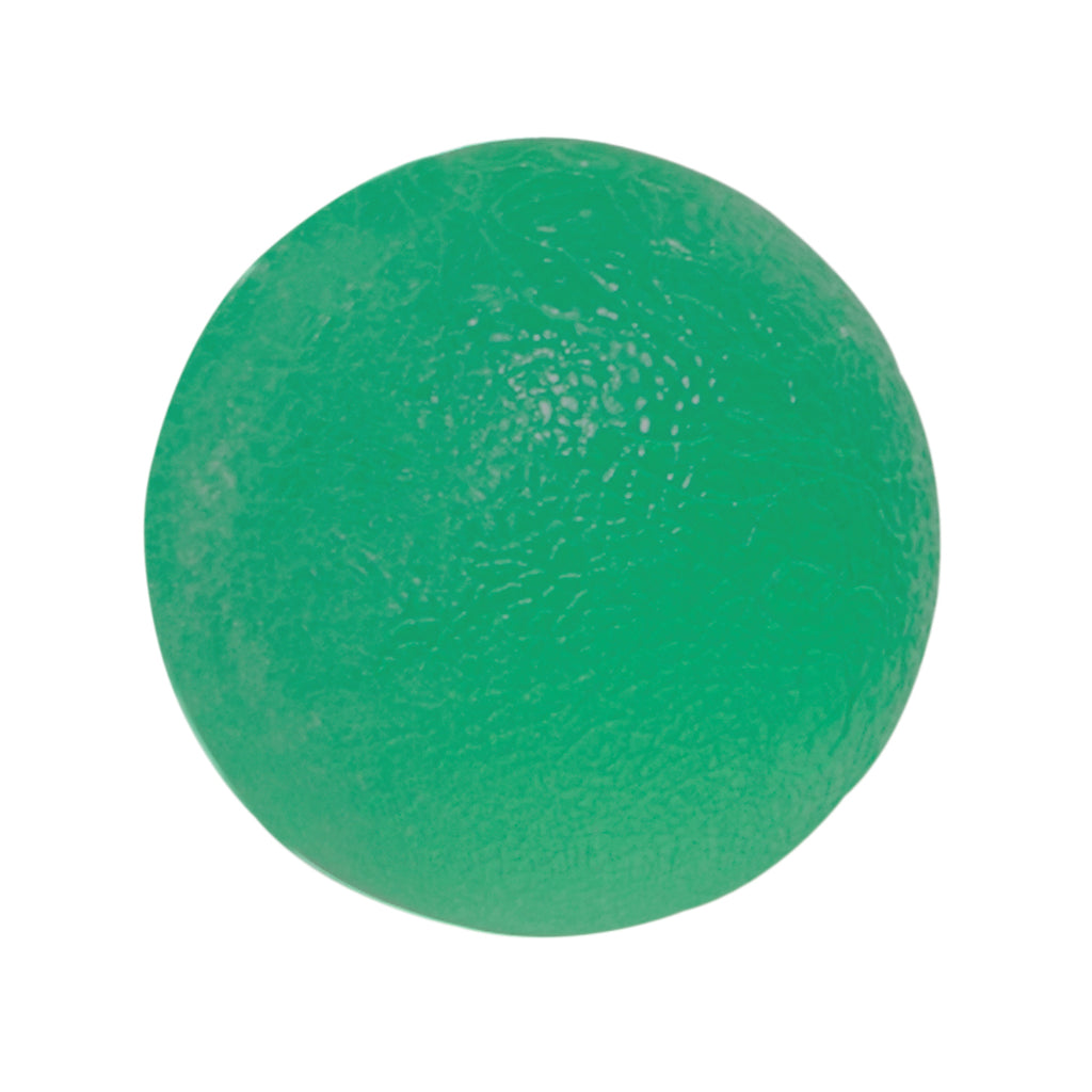 CanDo® Gel Squeeze Ball - Standard Circular - Green - Medium: