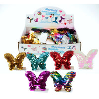 Butterfly Reversible Sequence Key Chain