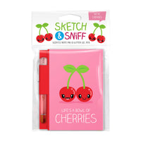 Sketch & Sniff Note Pads w/gel pen Cherry
