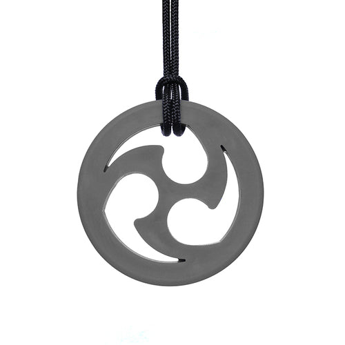 ARK'S NINJA STAR CHEWABLE JEWELRY Dark Grey