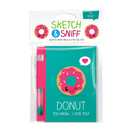 Sketch & Sniff Note Pads w/gel pen Donut