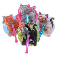 Folding Fan Kitten Design