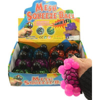 Mesh Squish Ball Glitter with cap