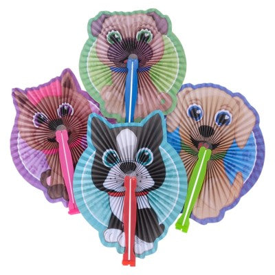 Folding Fan Puppy Design