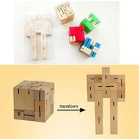 Wood Robot Blocks Puzzle