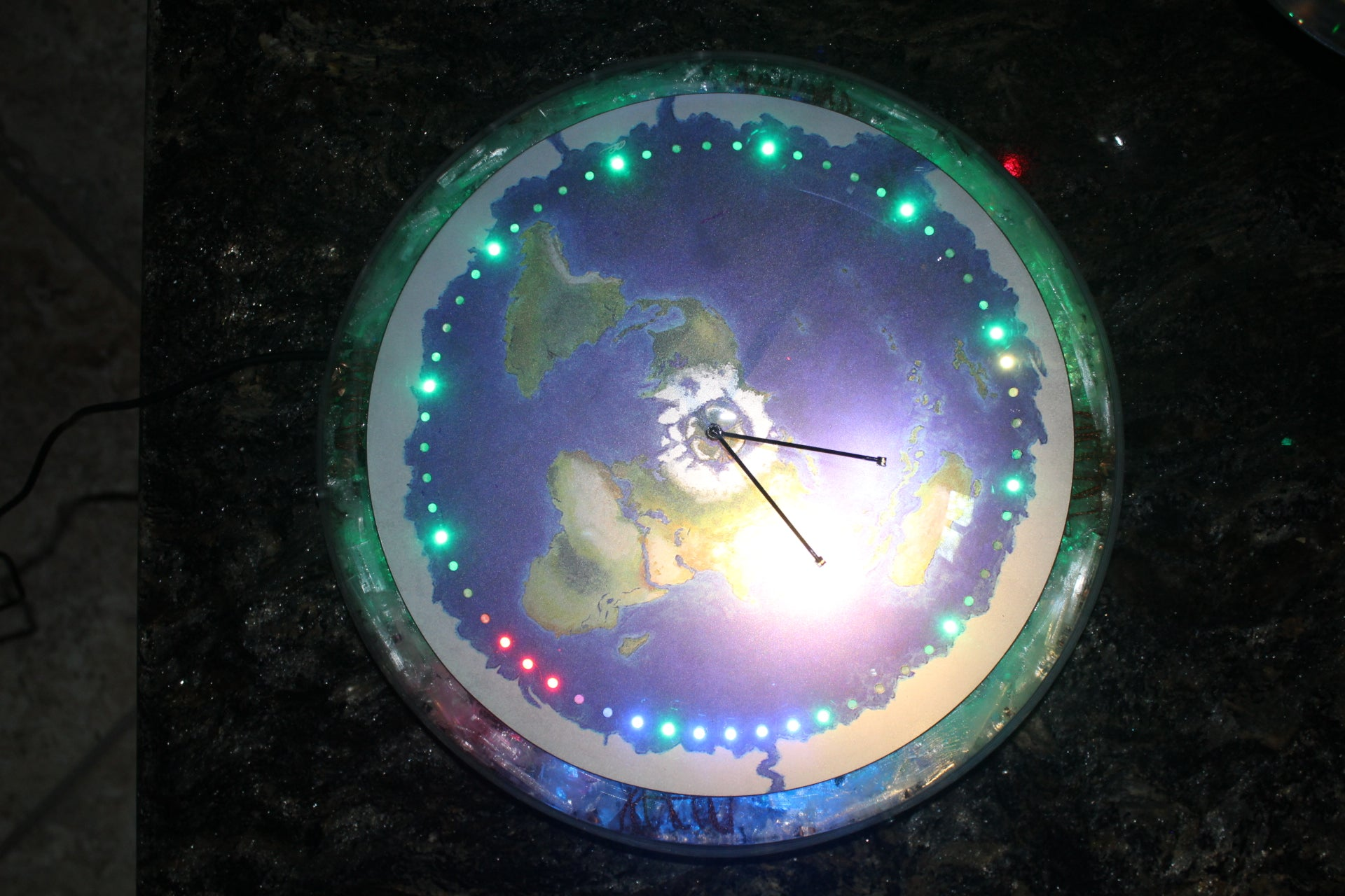"#74  12"" Powered Orgonite frame with clock"