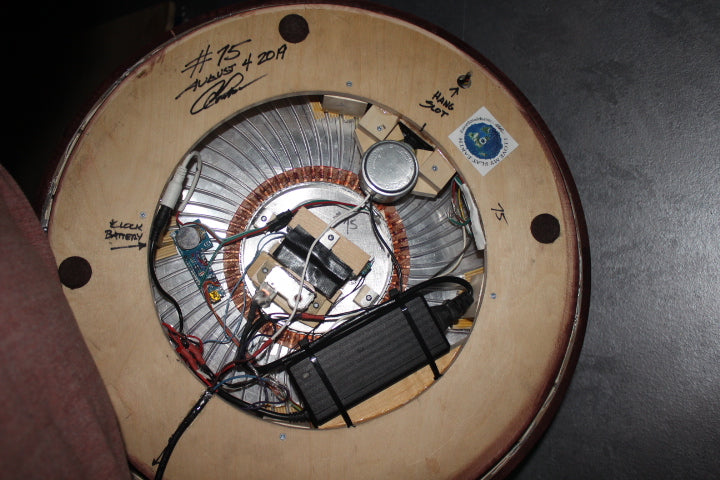 "#75  20"" Rotating Flat Sky Model with clock"