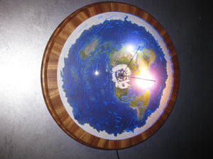 "#91  24"" Zebrawood rotating dome model"