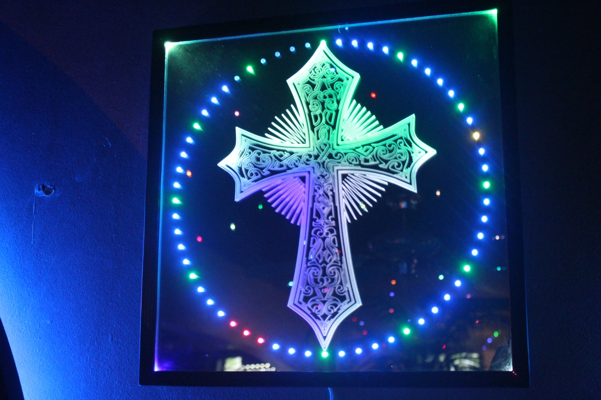 Lighted Cross Clock