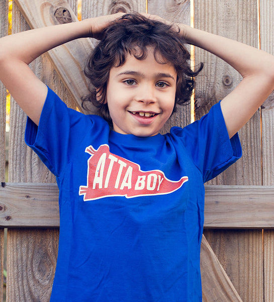 """Atta Boy!"" Blue Kids Tee"
