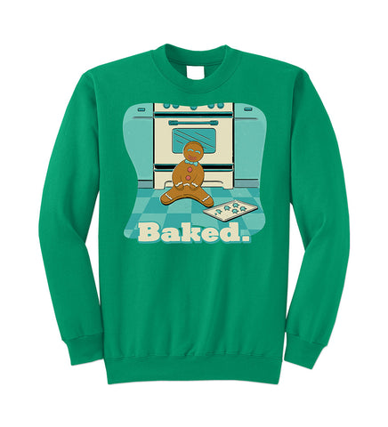 BAKED Green Christmas Sweatshirt