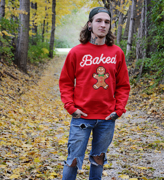 BAKED Red Christmas Sweatshirt