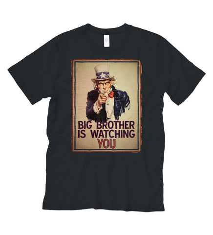 """Big Brother"" Black Tee :: Wholesale"