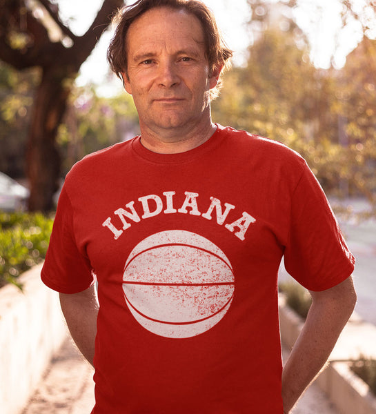 """Indiana Basketball"" Red Tee"