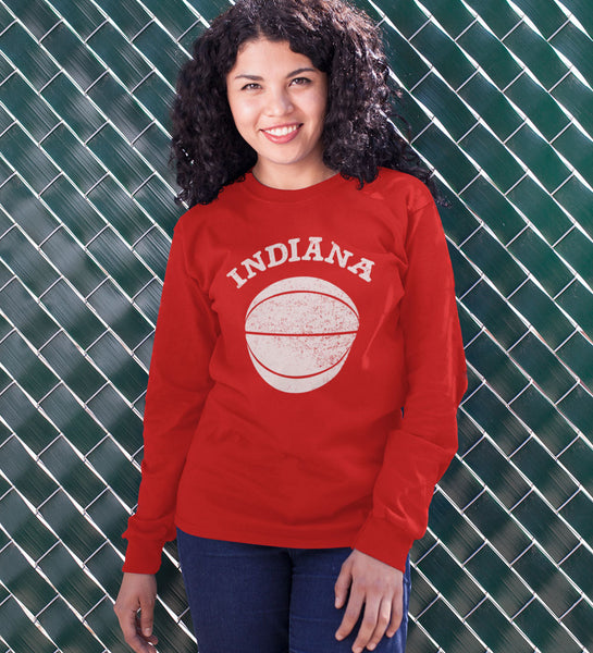 """Indiana Basketball"" Red Long Sleeved Tee"