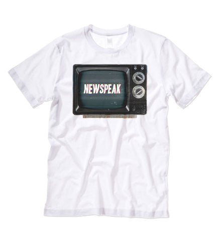 """Newspeak"" Black or White Tee"