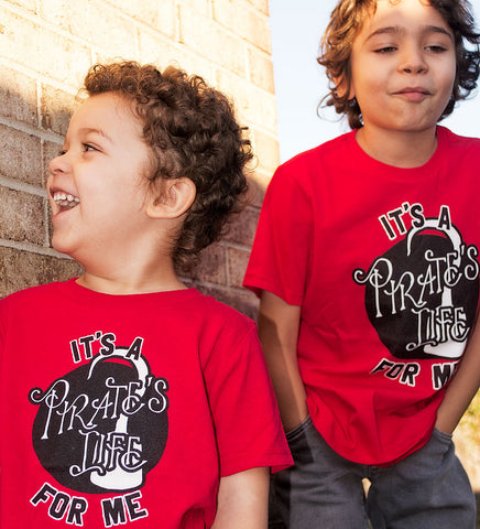 """Pirate's Life"" Red Kids Tee"
